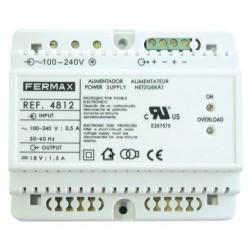 ALIMENTADOR DIN6 100-240VAC/18VDC-1,5A FERMAX