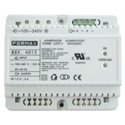 ALIMENTADOR DIN6 100-240VAC/12VDC-2A FERMAX
