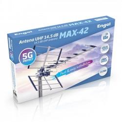 Antena UHF 14,5 dB MAX-42. Con Filtro 5G ENGEL