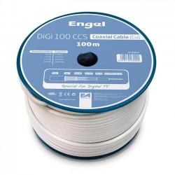 Bobina 100M cable coaxial PROF DIGI-100CCS BLANCO ENGEL