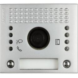 Frontal fónico A/V con 2 puls. 2 col. Aluminio.