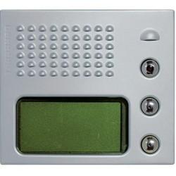 Frontal fónico con display gráfico Aluminio.