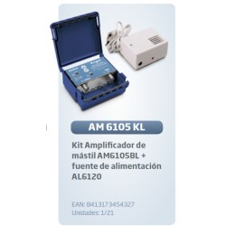 Kit amplificador mastil am6105 + fuente al6120 lte-anti 4g