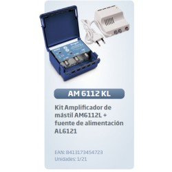 Kit amplificador mastil am6112 + fuente al6120 lte-anti 4g