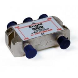 Distribuidor estándar de 4 vías (5-2400Mhz) - paso DC/22Khz