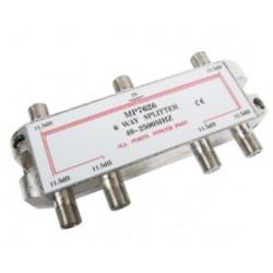 Distribuidor standart de 6 vías (5-2400Mhz) - paso DC/22Khz