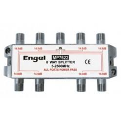 Distribuidor estándar de 8 vías (5-2400Mhz) - paso DC/22Khz